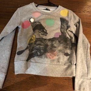Gray Cat Christmas Sweater